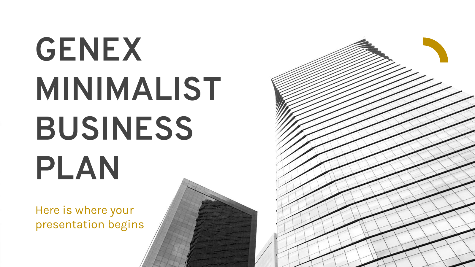 Genex Minimalist Business Plan presentation template