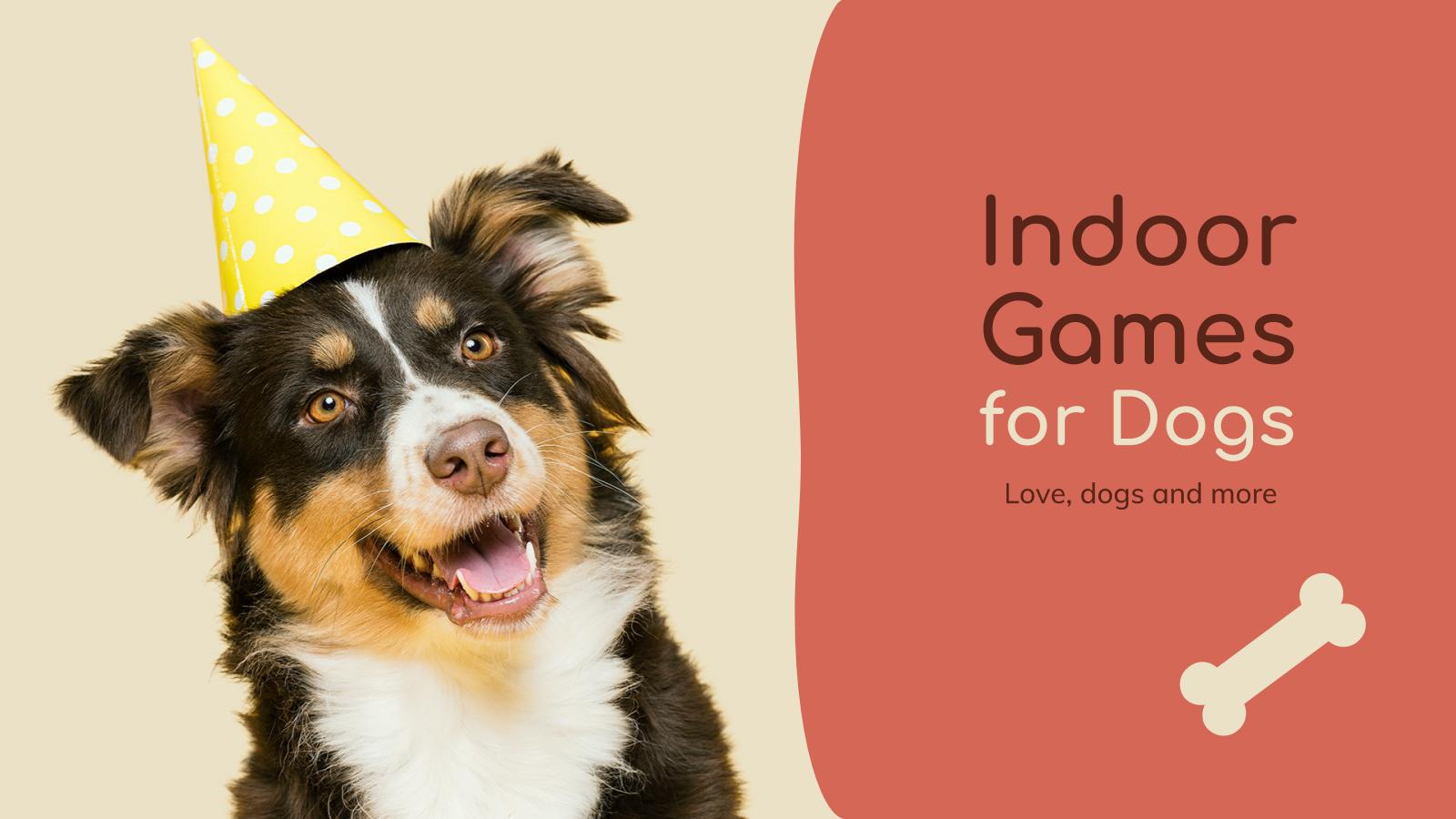 Plantilla de presentación Juegos en casa para perros