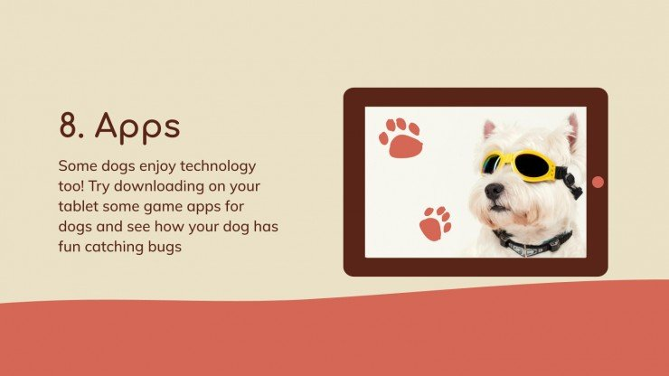 Indoor Games for Dogs presentation template