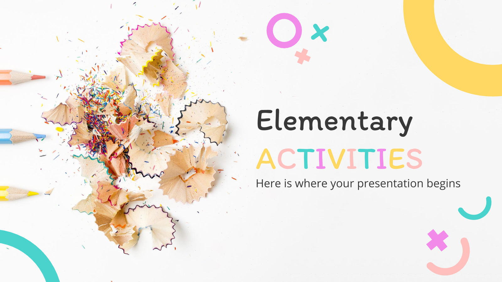 Elementary Activities presentation template