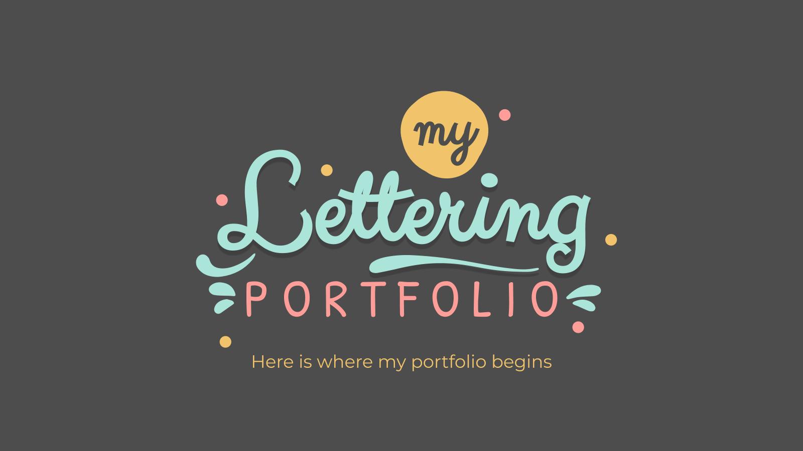 Plantilla de presentación Portafolio de lettering