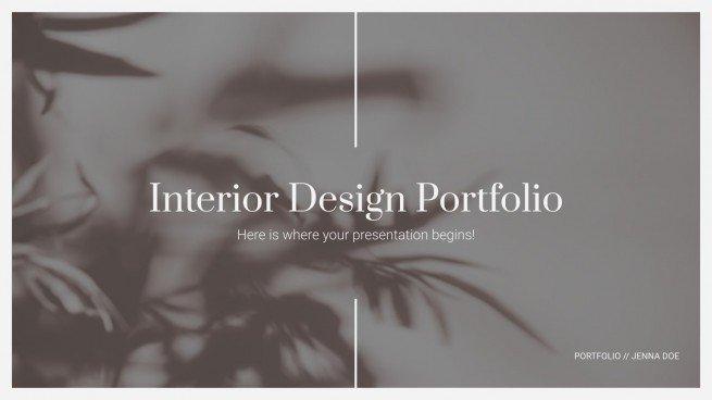 Plantilla de presentación Portafolio de interiorismo