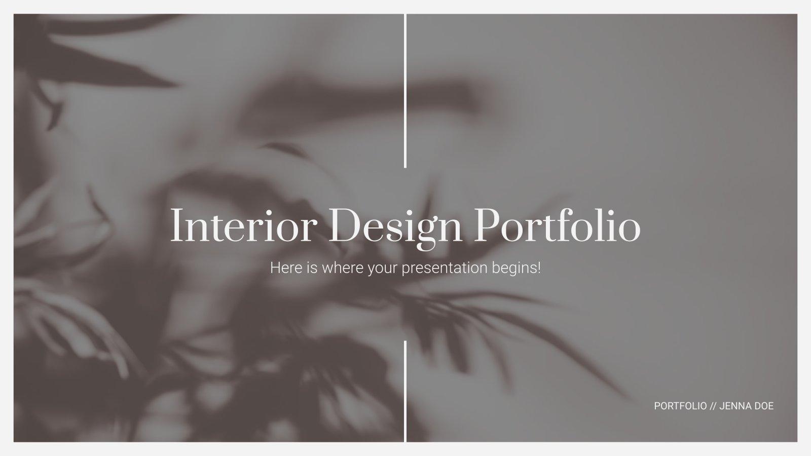 Portfolio de décoration d'intérieur : Modèles de présentation