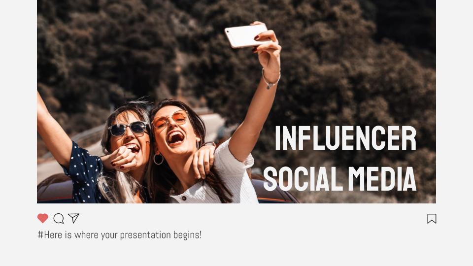Modelo de apresentação Redes sociais de influencers