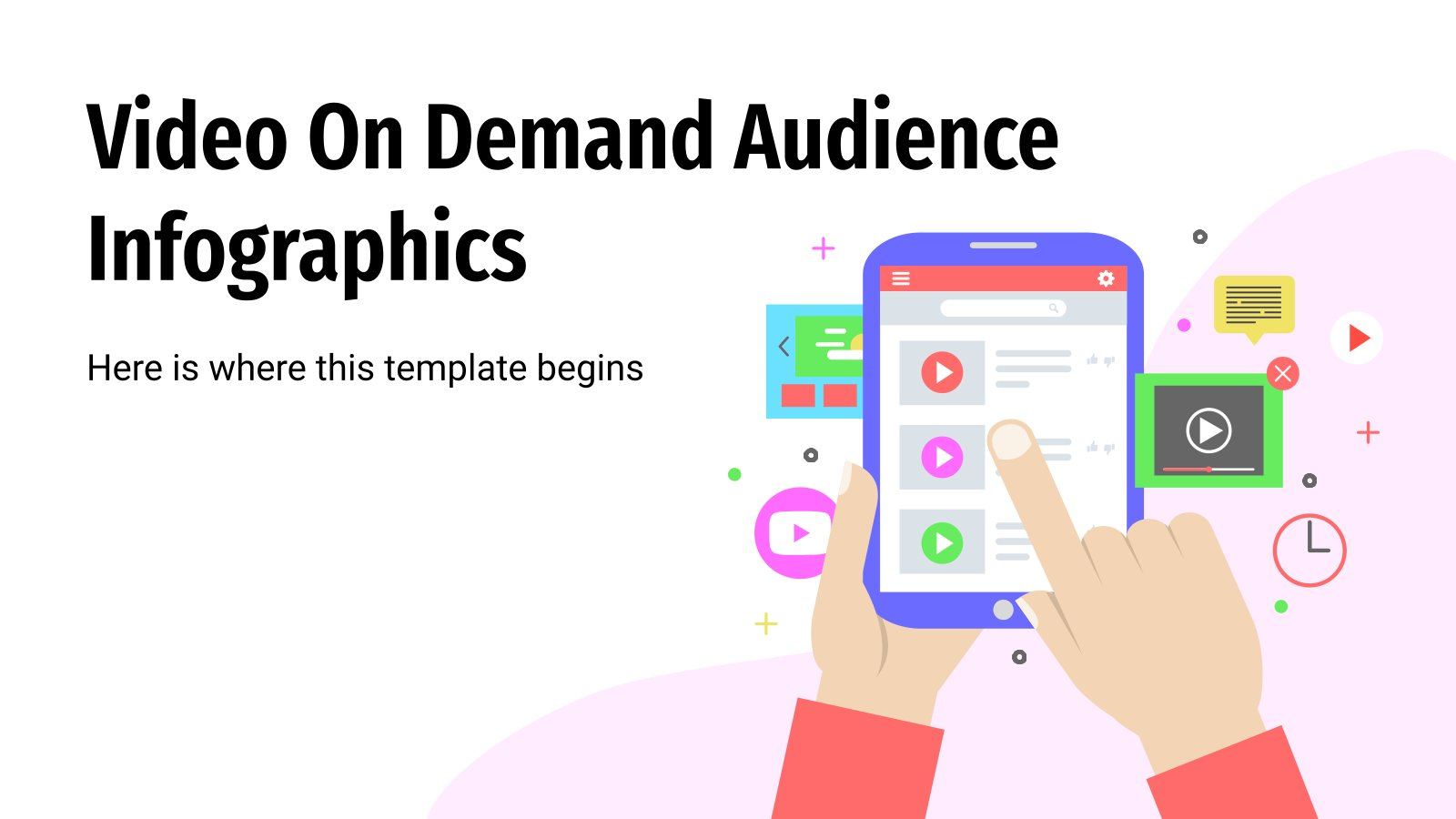 Video On Demand Audience Infographics presentation template