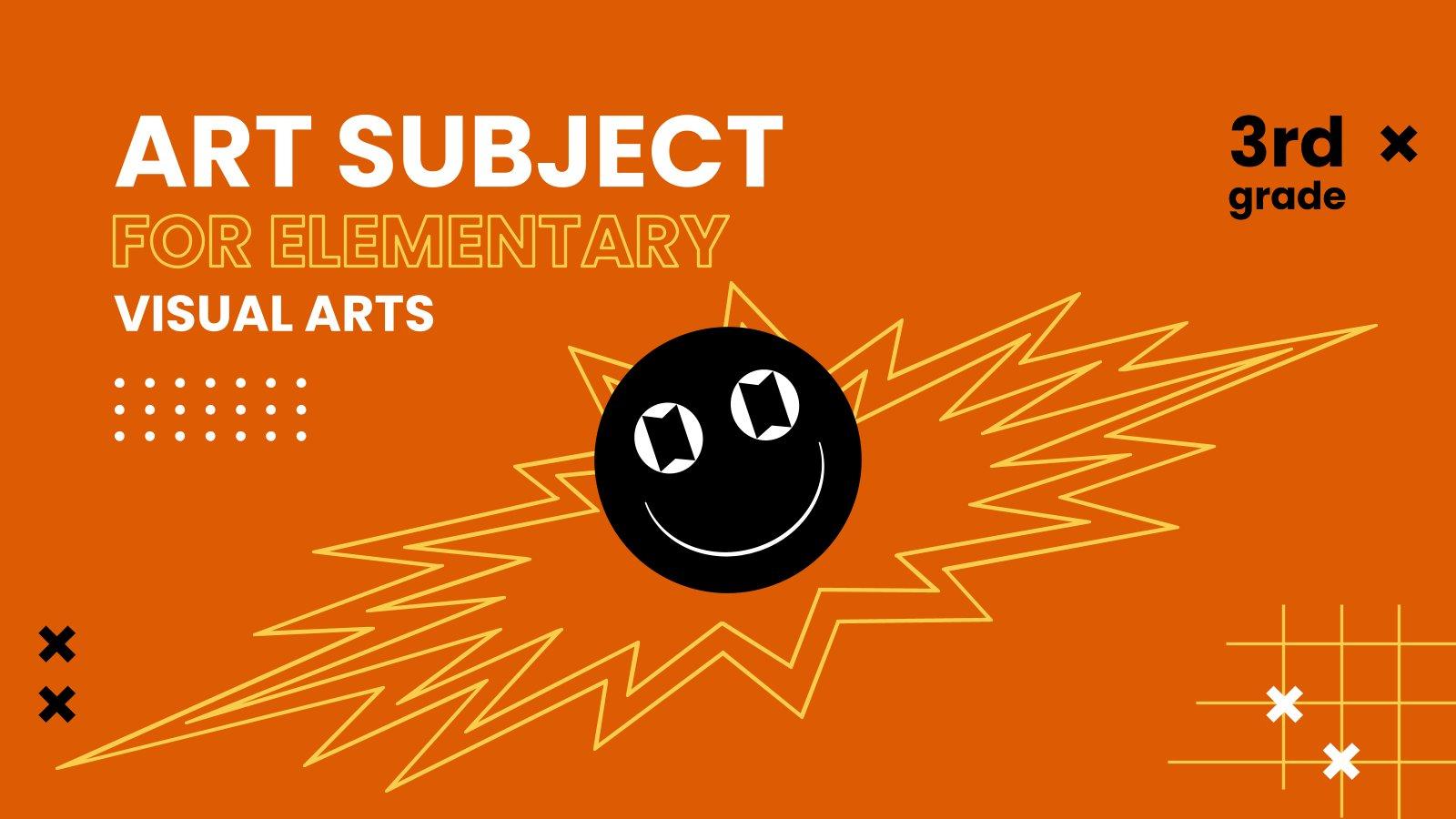 Art Subject for Elementary - 3rd Grade: Visual Arts presentation template