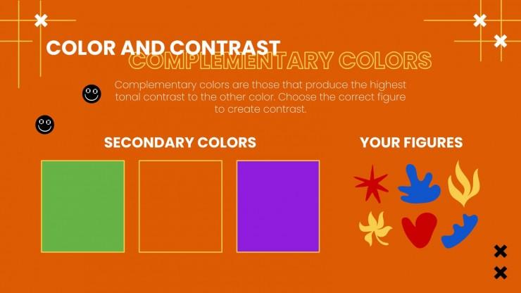Plantilla de presentación Clase de arte para primaria: Artes visuales