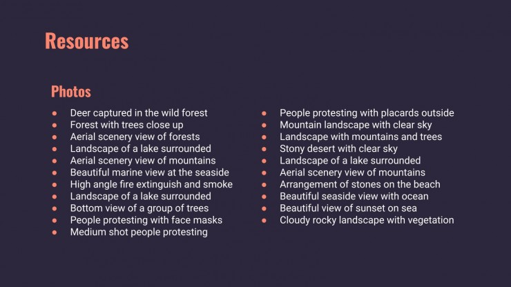 Conséquences et effets du réchauffement climatique : Modèles de présentation