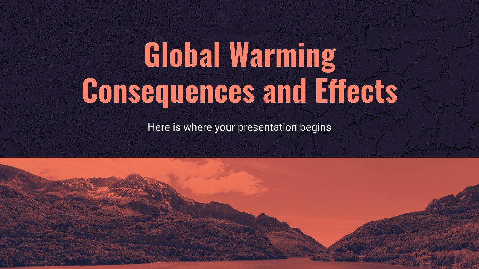 Modelo de apresentação Conseqüências e efeitos do aquecimento global
