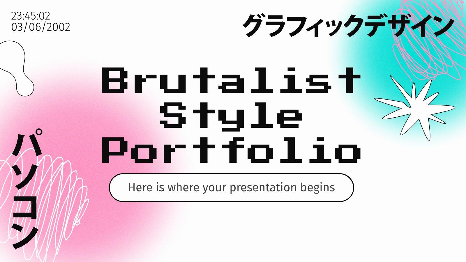 Portfolio du style brutaliste : Modèles de présentation