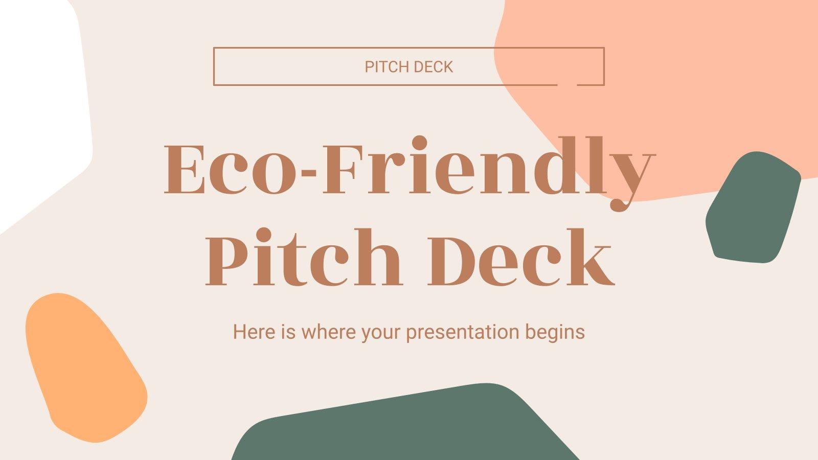 Modelo de apresentação Pitch deck ecológico