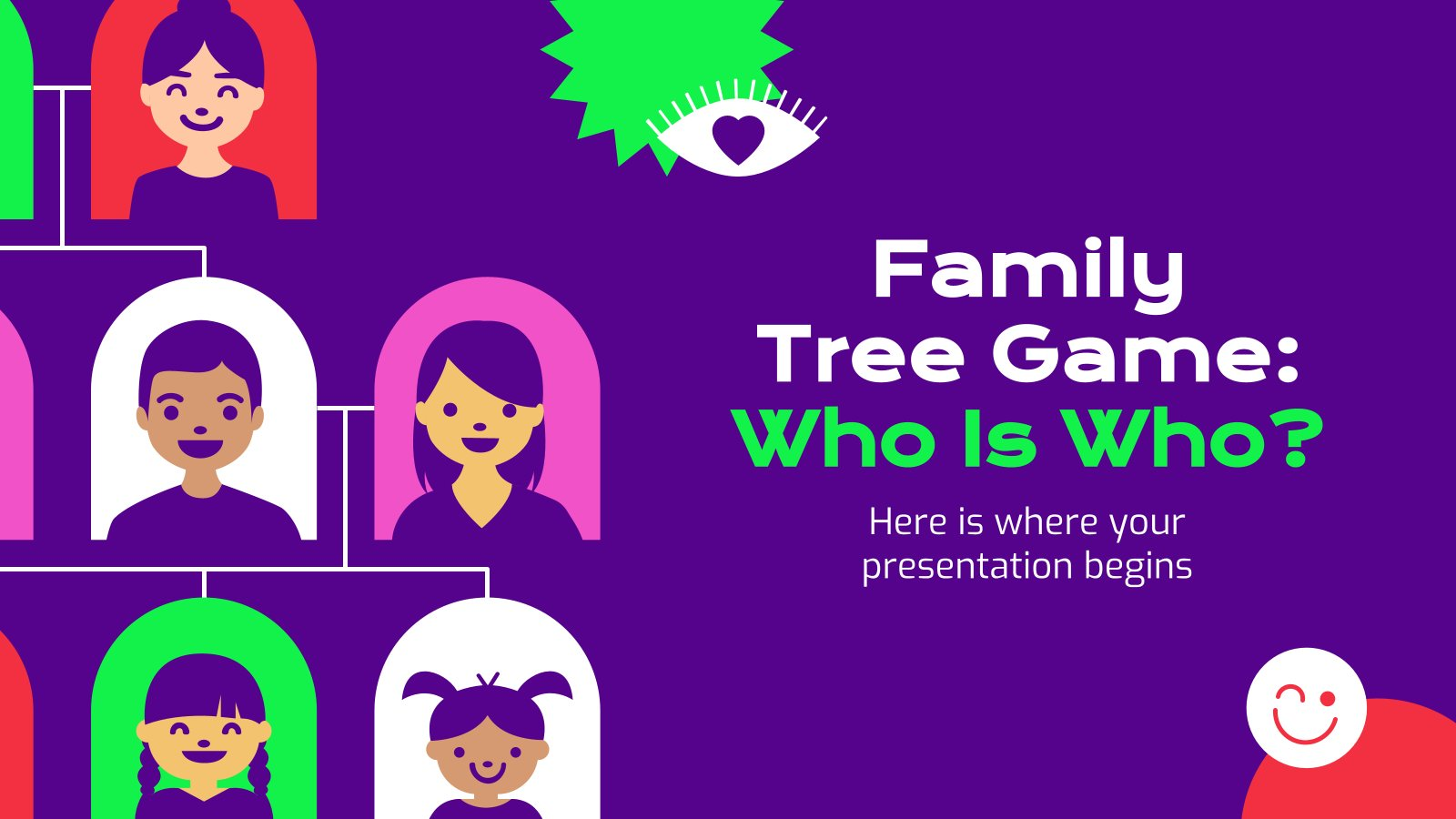 Family Tree Game: Who Is Who? presentation template