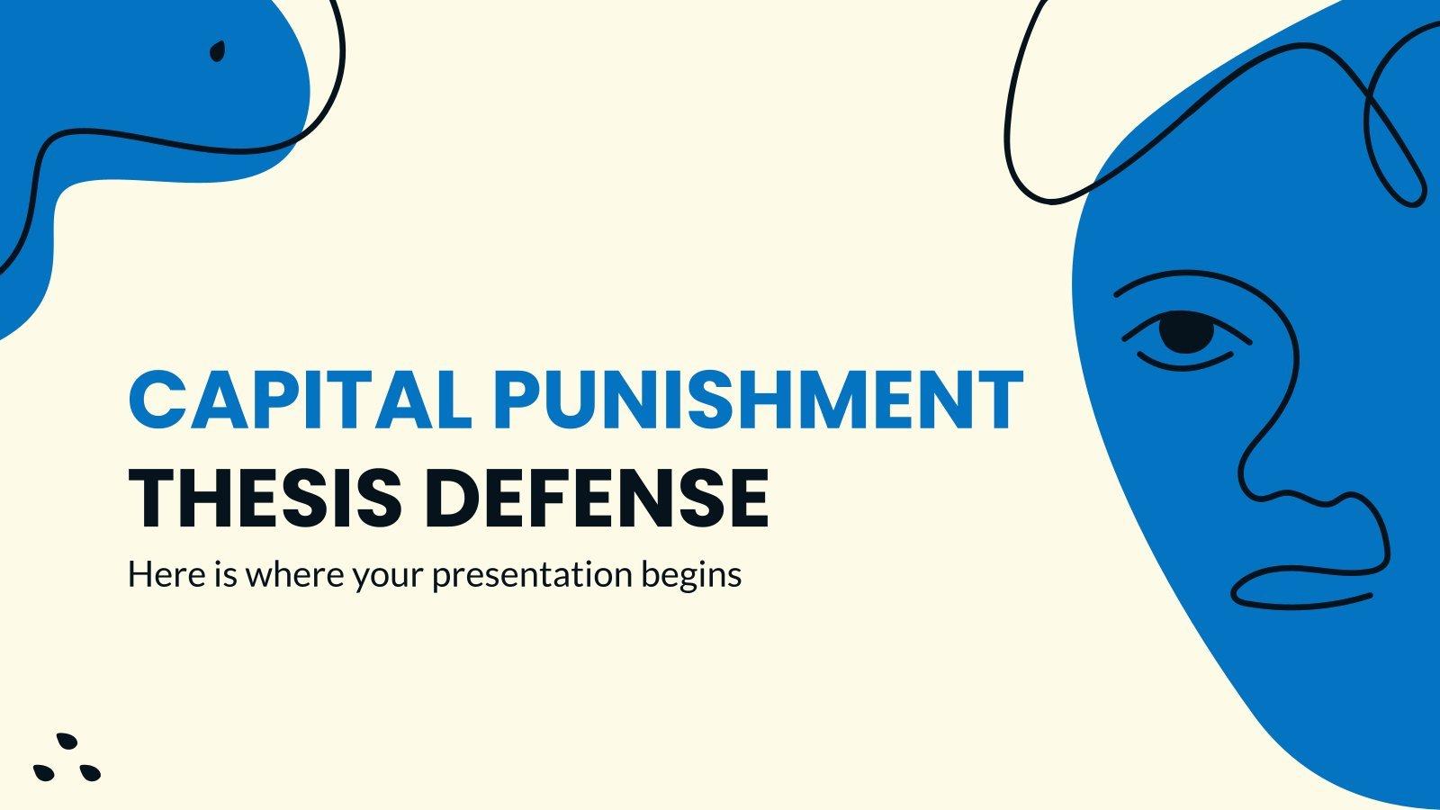Capital Punishment Thesis Defense presentation template