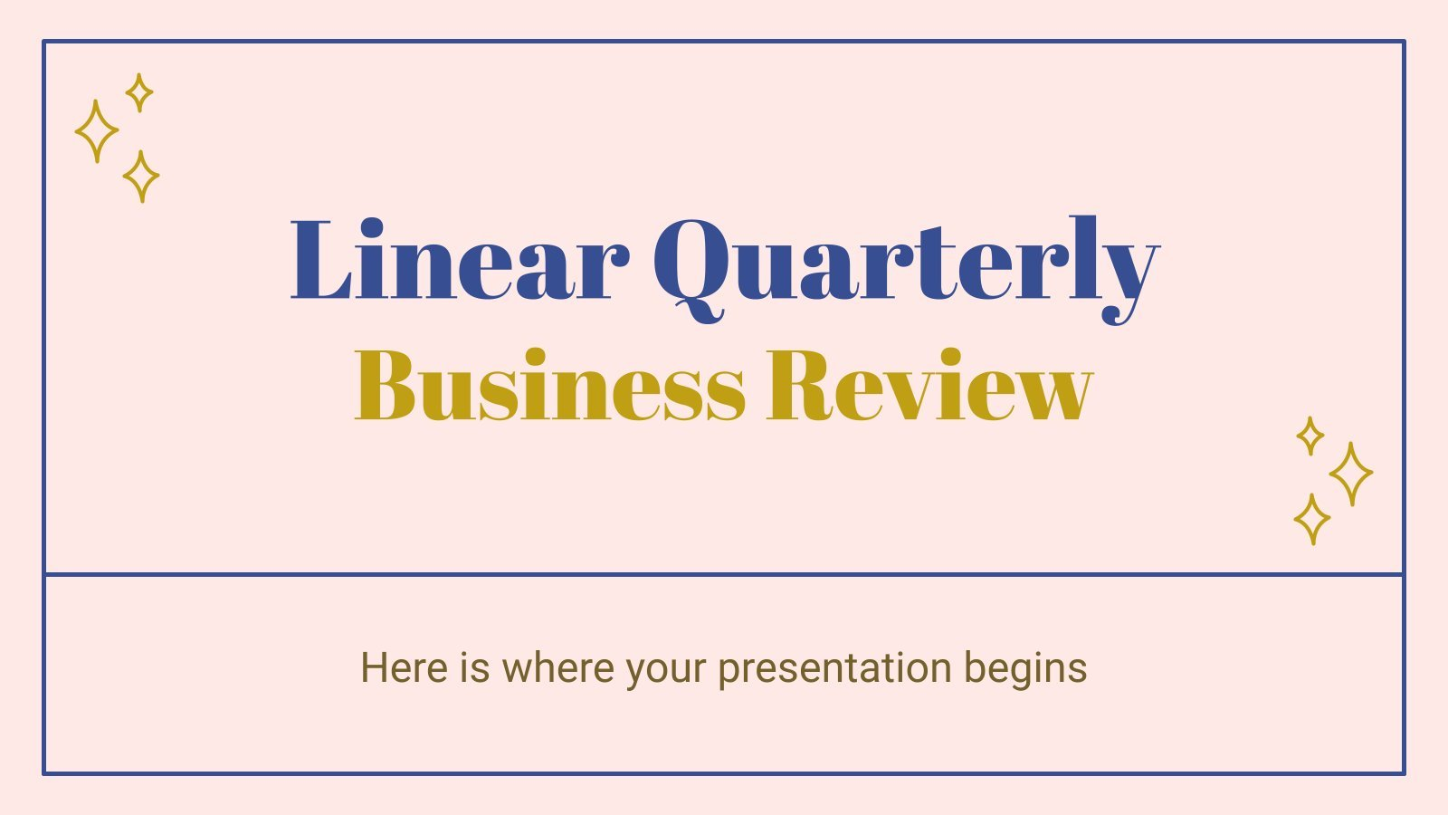 Linear Quarterly Business Review presentation template