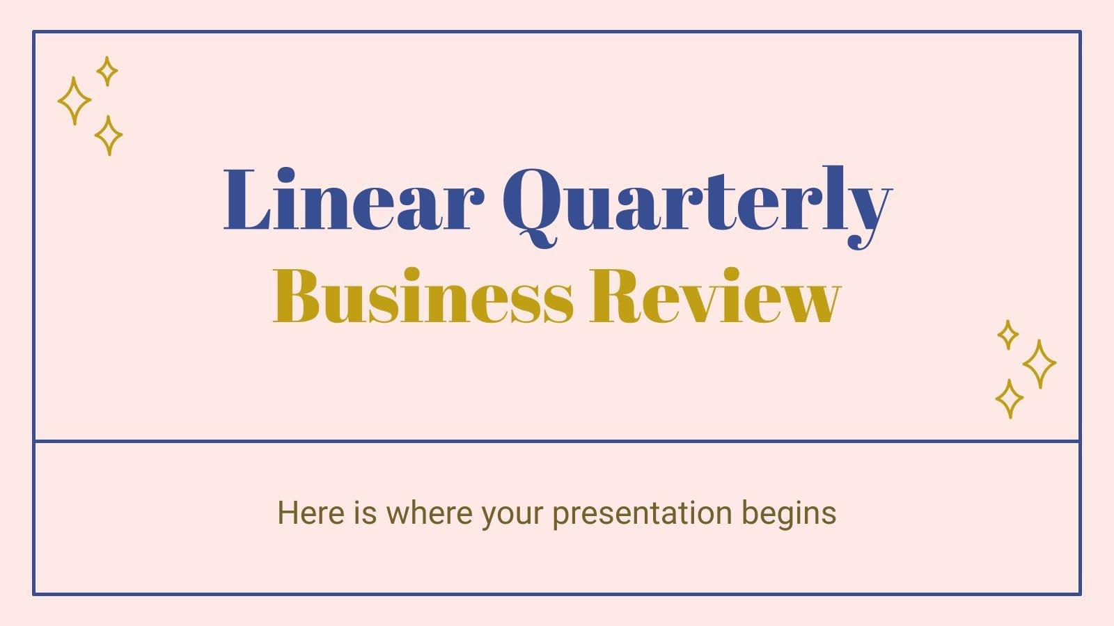 Plantilla de presentación Resumen empresarial trimestral