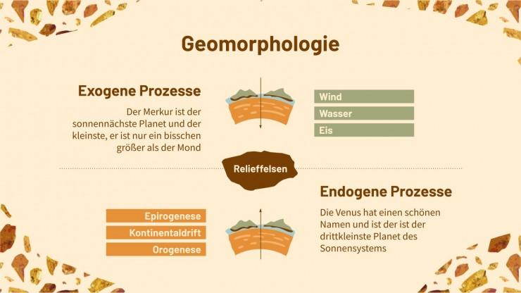 Geowissenschaften Studium Präsentationsvorlage