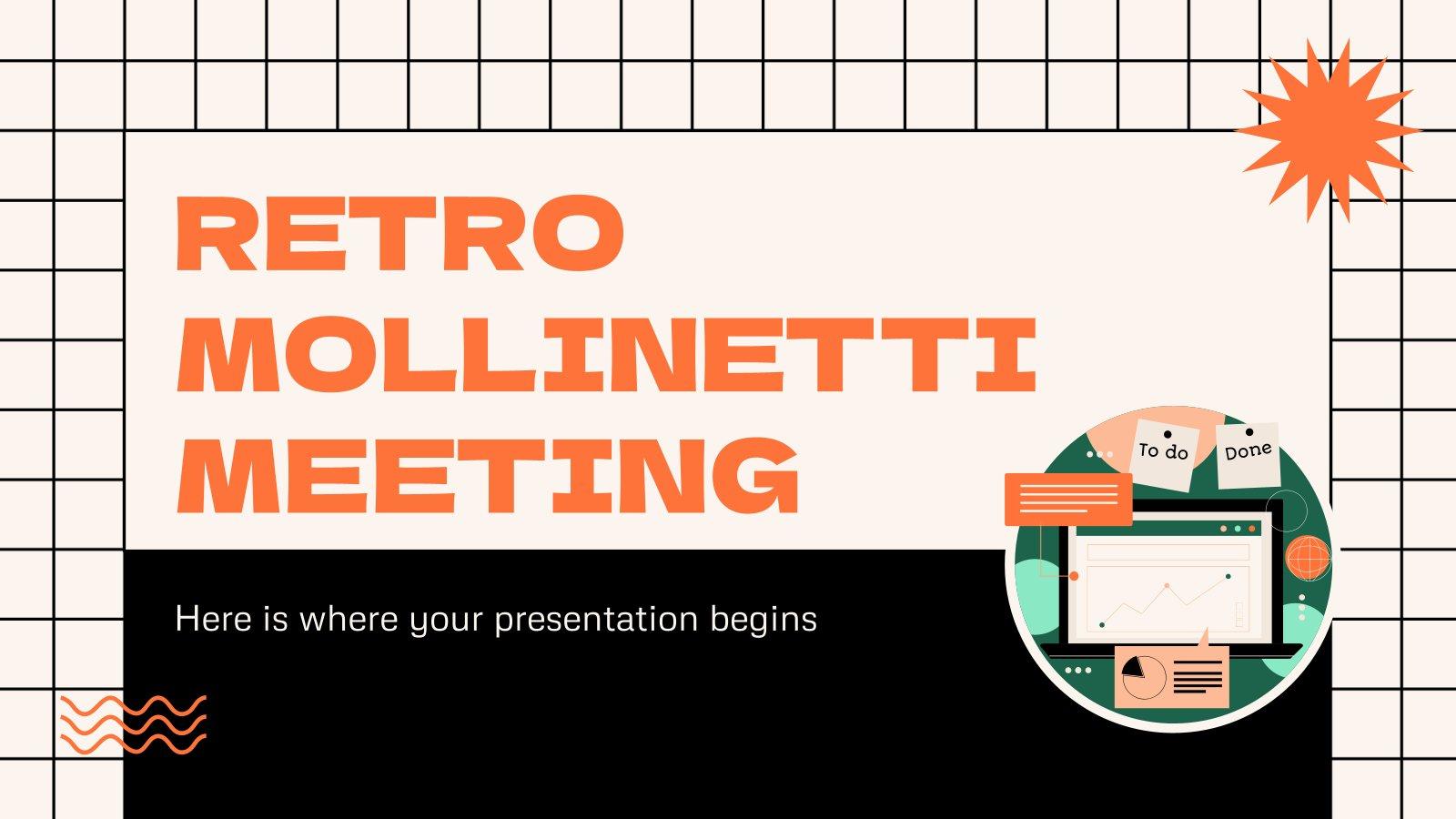Plantilla de presentación Reunión Mollinetti Retro