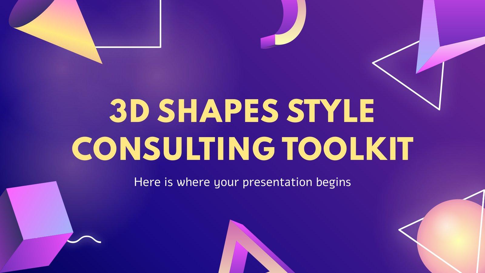 Plantilla de presentación Herramientas para consultores con formas 3D