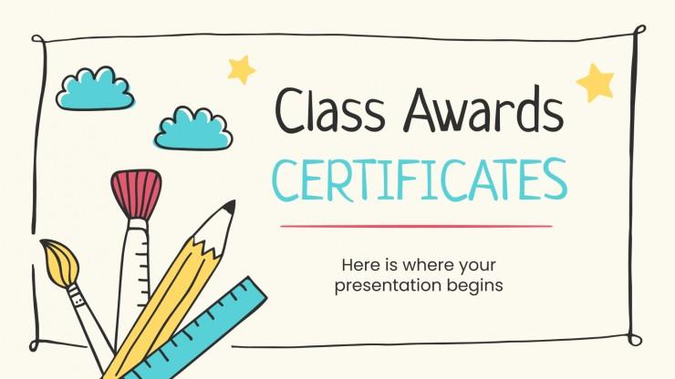 Modelo de apresentação Prêmios para a classe