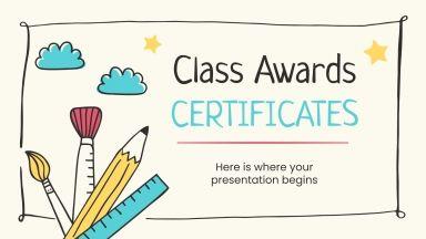 Klasse Preise Zertifikate Präsentationsvorlage