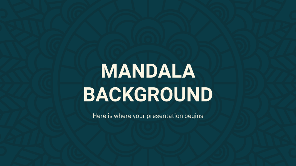 Mandala Background presentation template
