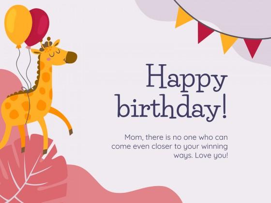 Creative Birthday Cards presentation template
