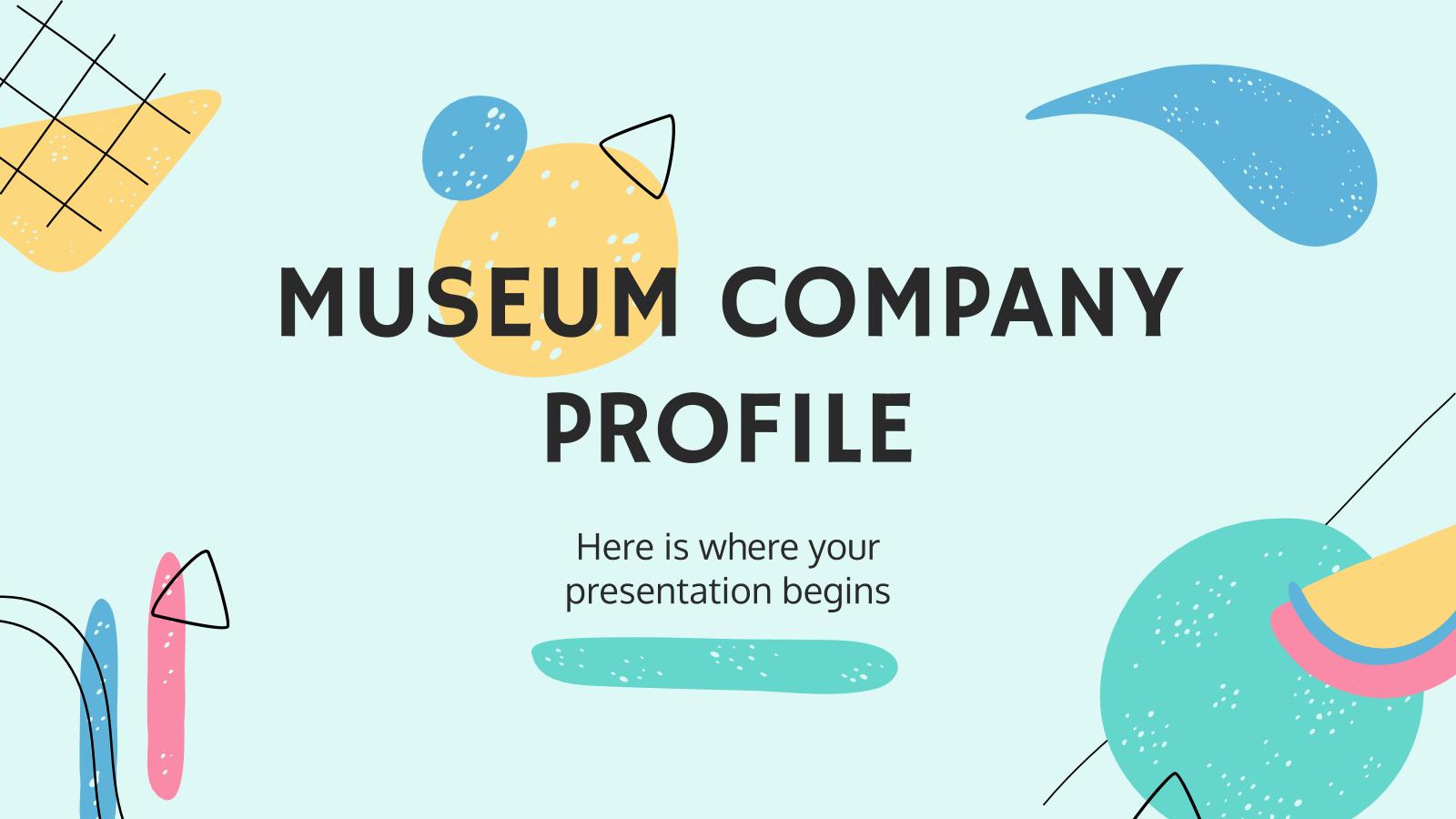 Plantilla de presentación Perfil de compañía de un museo