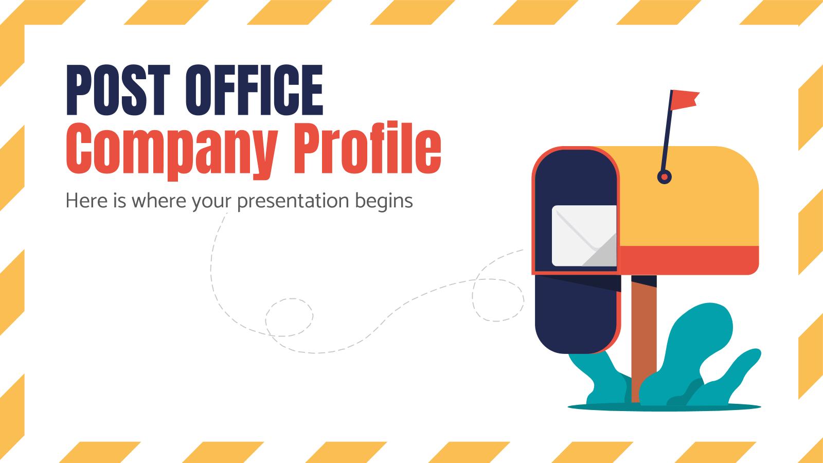 Post Office Company Profile presentation template