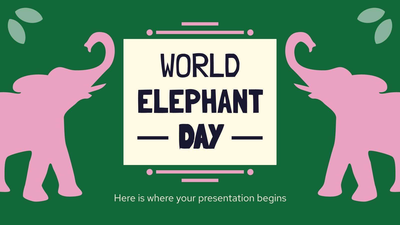 Journée mondiale des éléphants : Modèles de présentation
