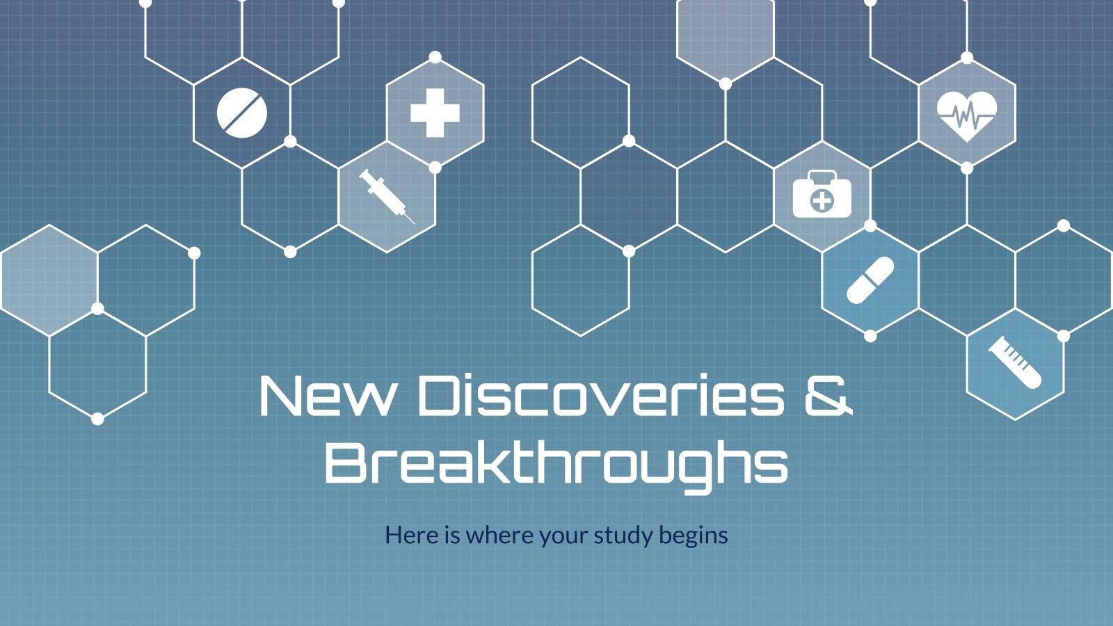 Neue Entdeckungen & Durchbrüche Präsentationsvorlage
