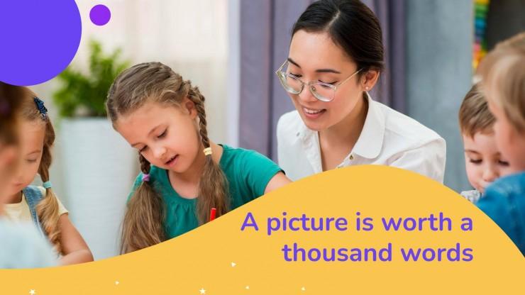 Modelo de apresentação Aula para pré-escola: Escrita à mão
