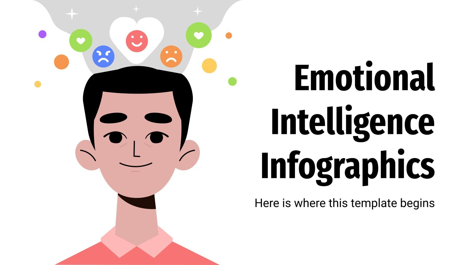 Modelo de apresentação Infográficos de inteligência emocional