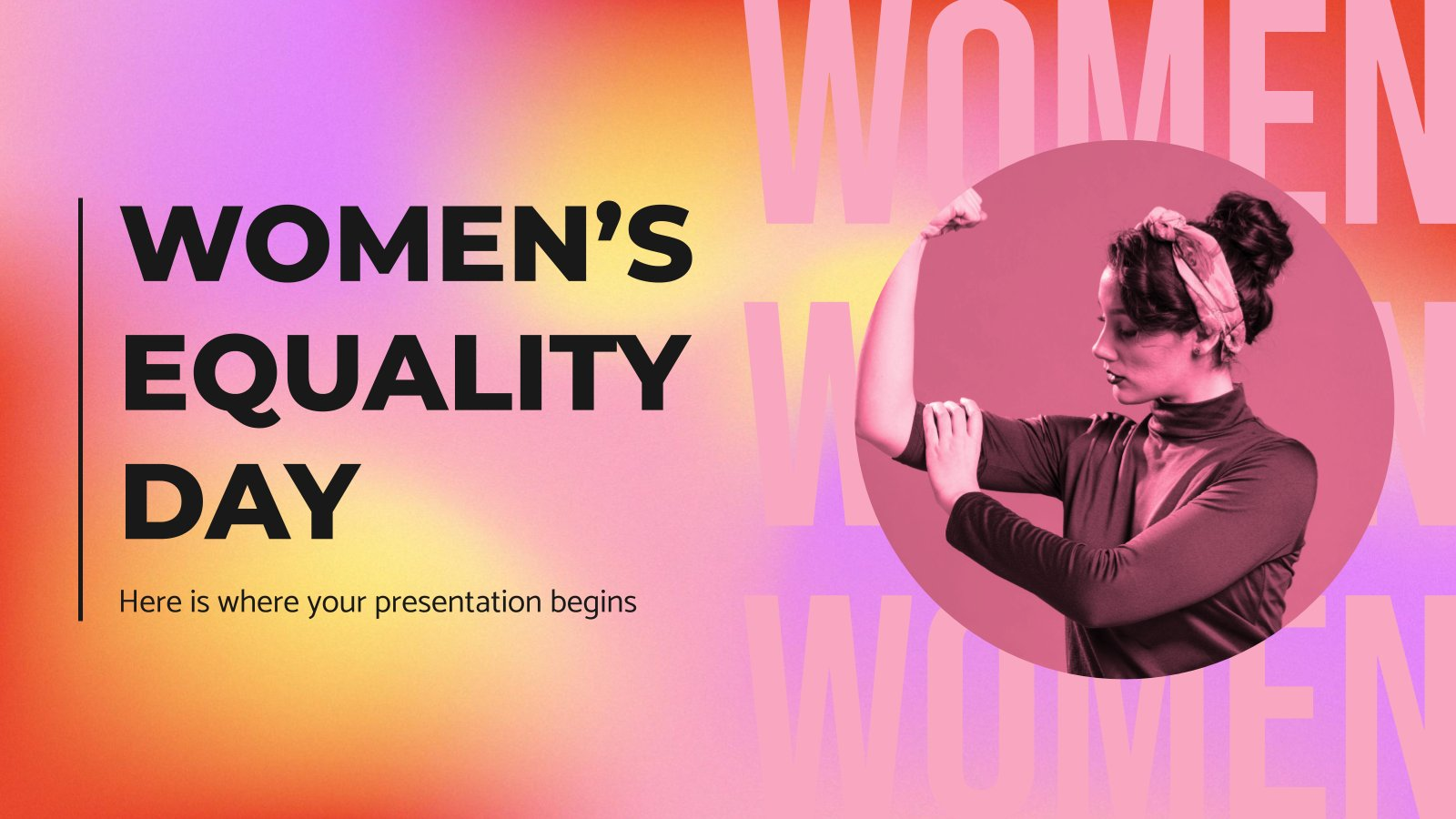 Women's Equality Day presentation template
