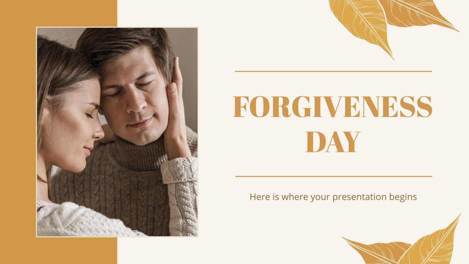 Forgiveness Day presentation template