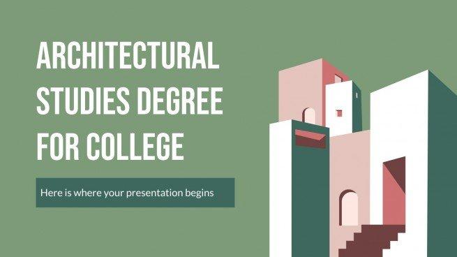 Diplôme d'études d'architecture pour l'université : Modèles de présentation