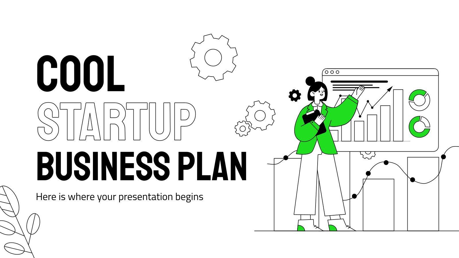 Plantilla de presentación Plan de negocios genial para startups