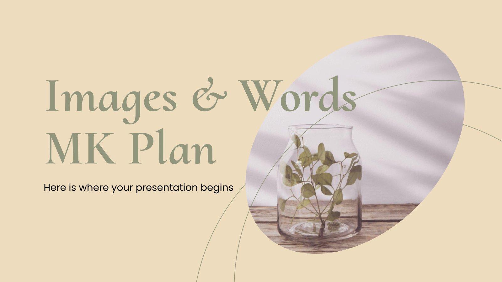 Marketingplan Bilder und Worte Präsentationsvorlage