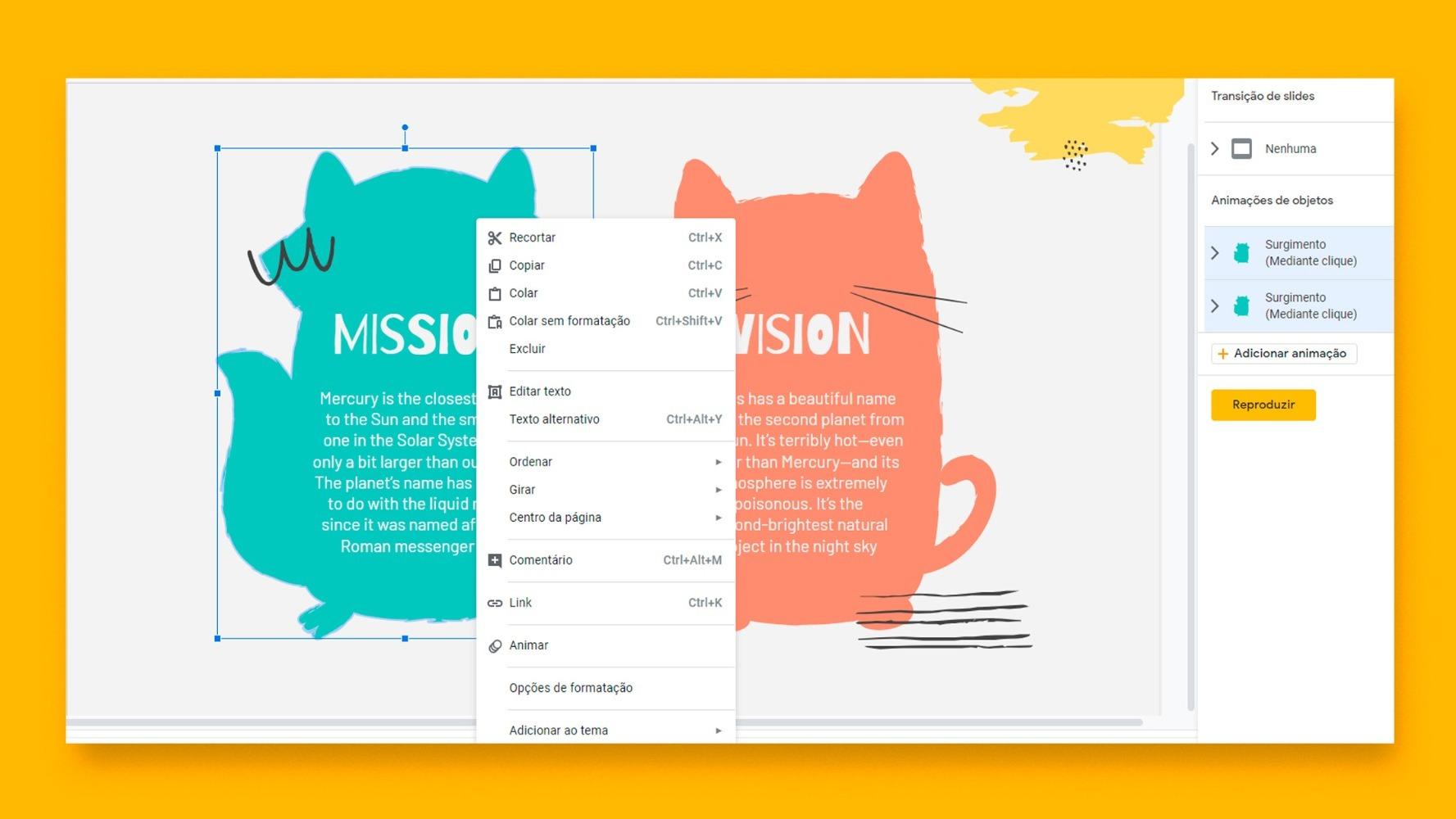 Como adicionar animações e transições nas apresentações do Google Slides | Tutoriais e Dicas de apresentação