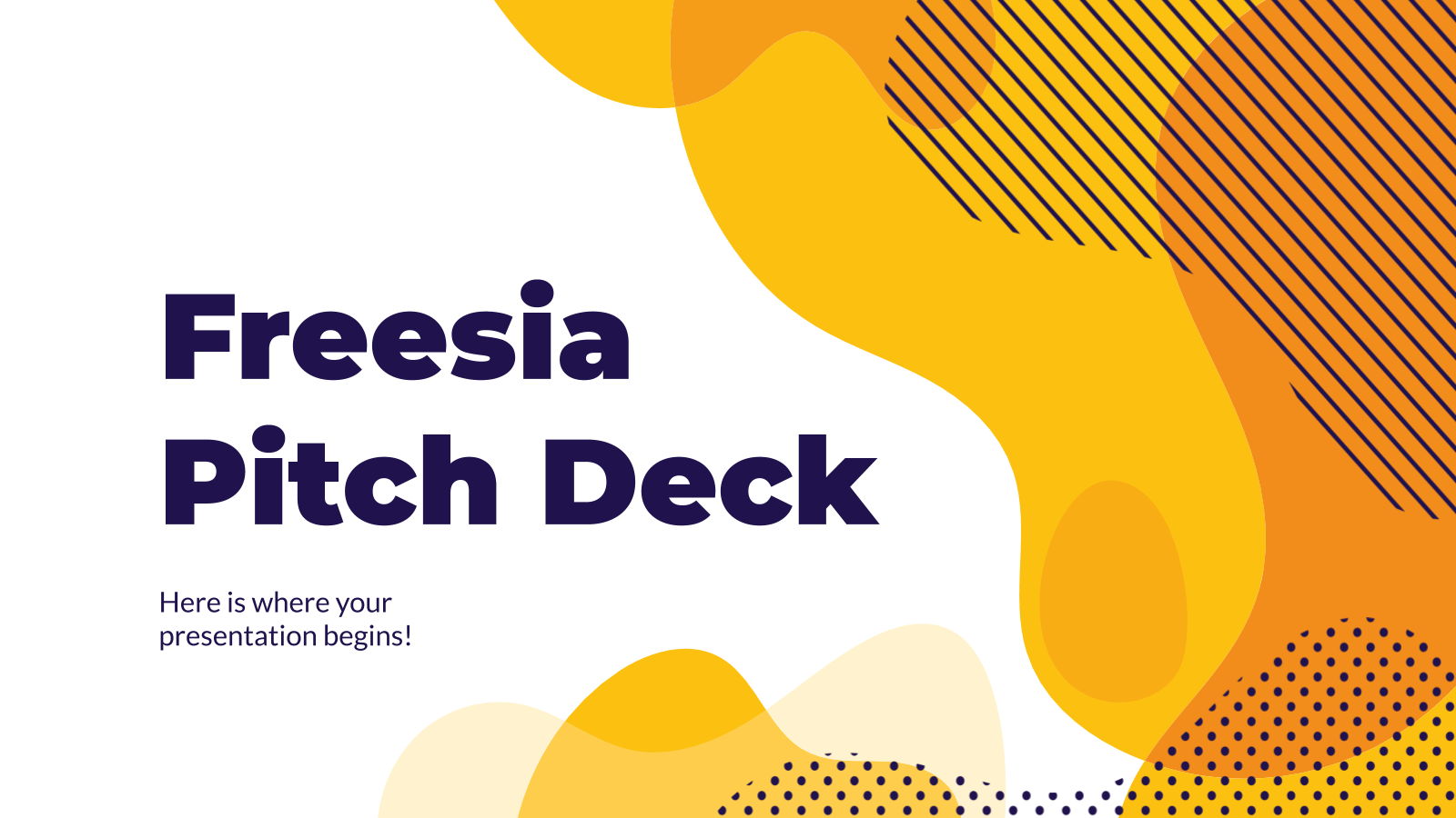 Freesia Pitch Deck presentation template