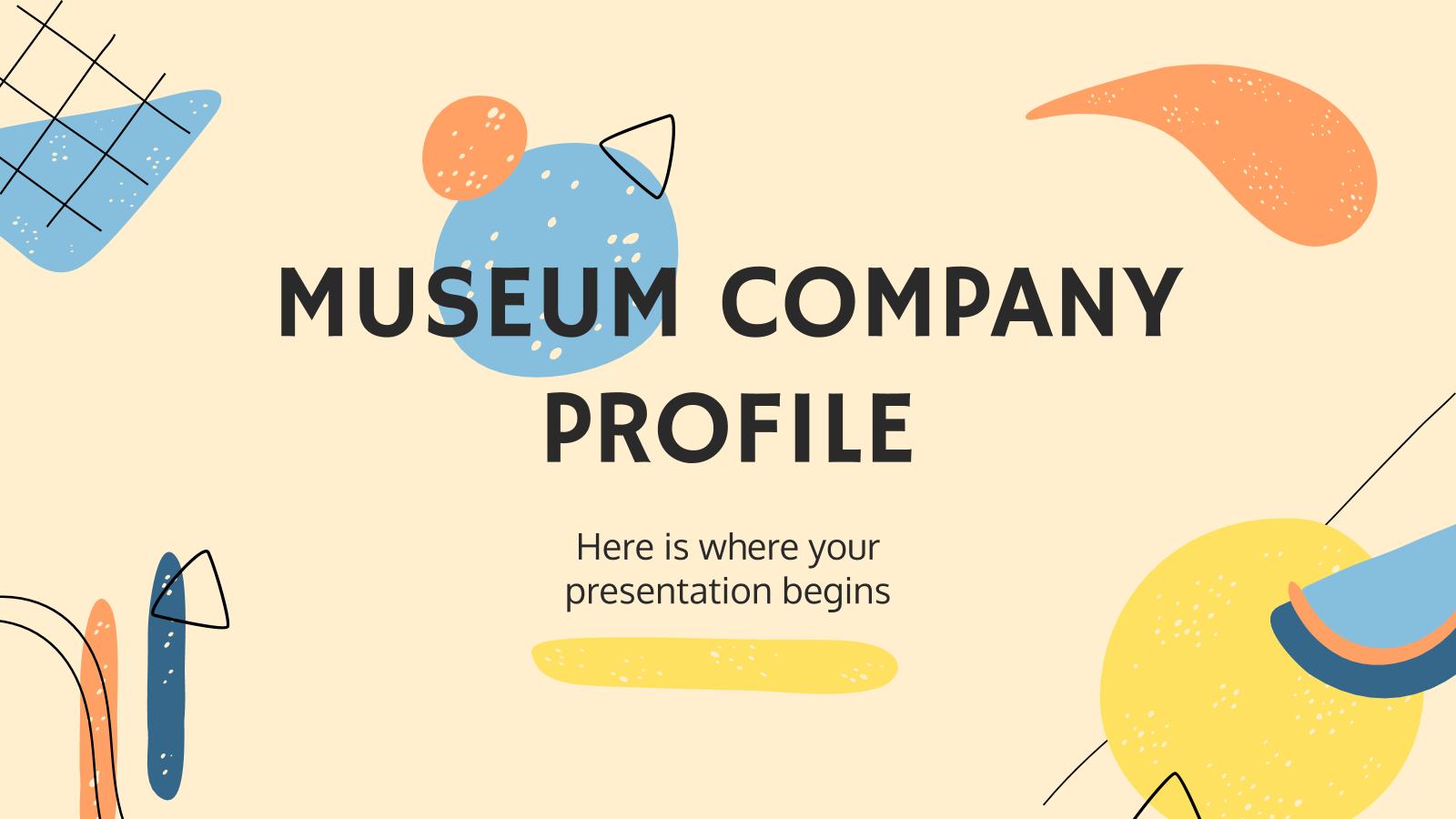 Modelo de apresentação Perfil de museu