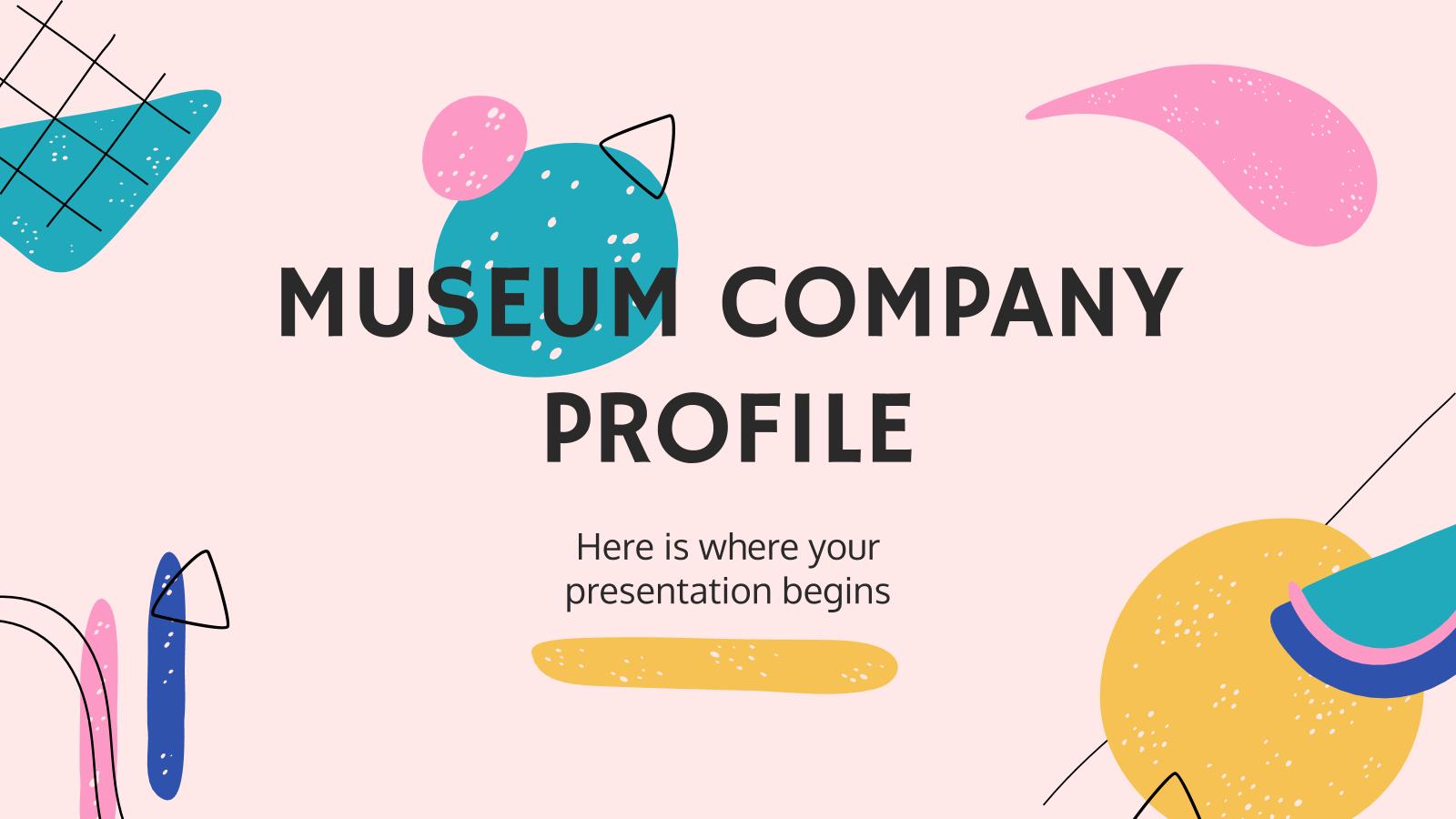 Museum Company Profile presentation template