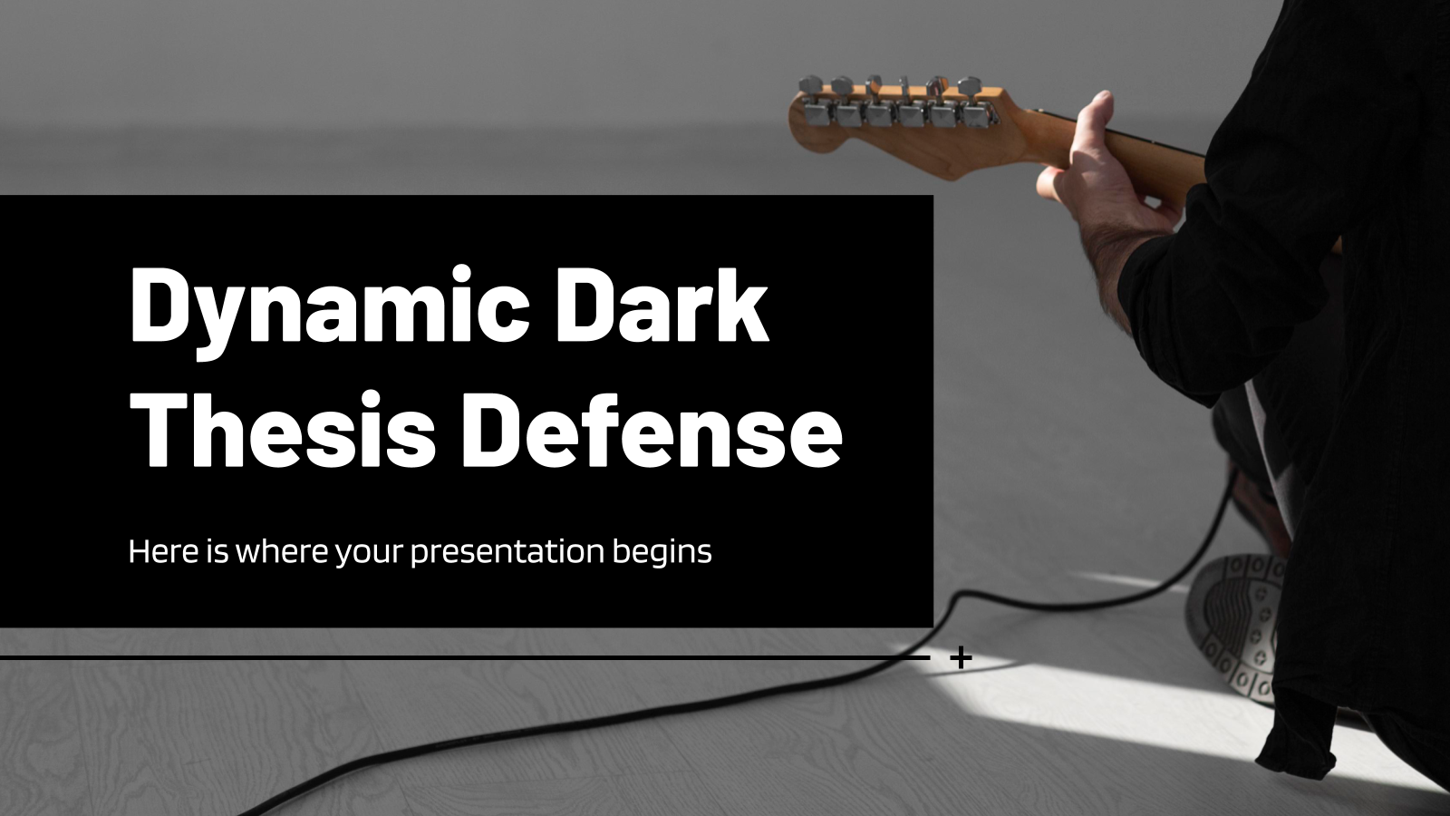Dynamic Dark Thesis Defense presentation template