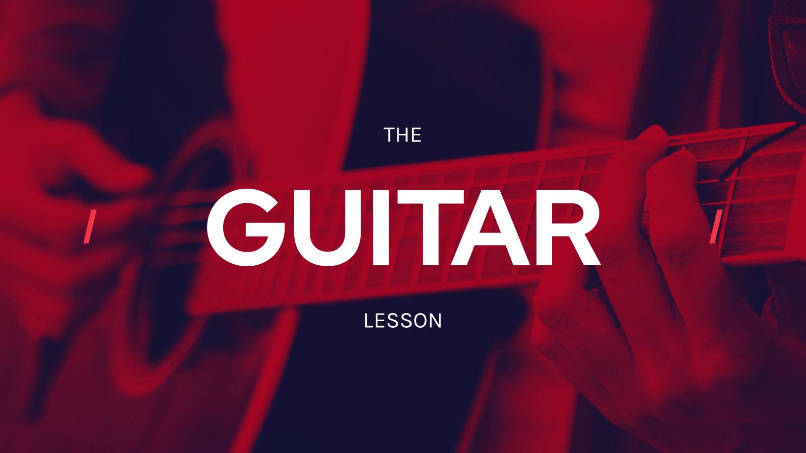 Guitar Lesson presentation template