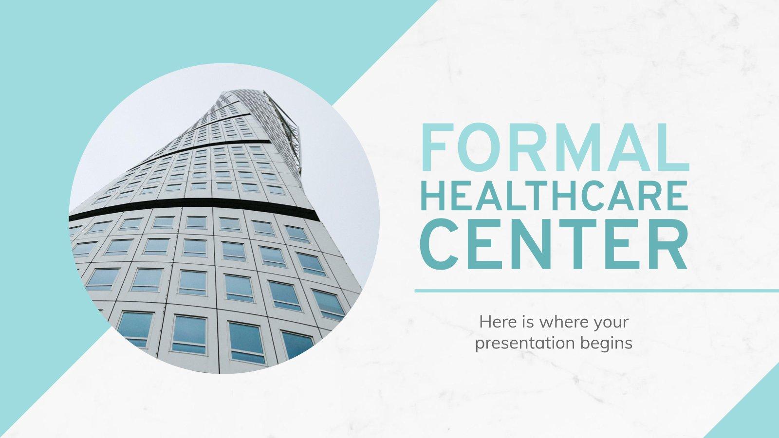 Plantilla de presentación Diapositivas formales para salud