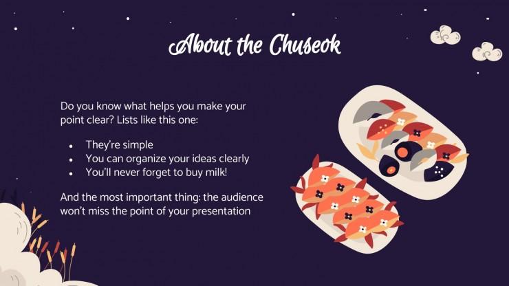 Fête de Chuseok : Modèles de présentation