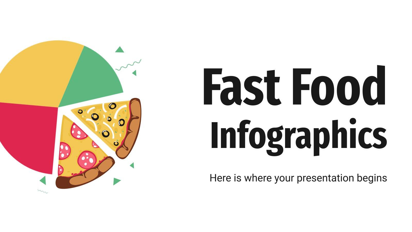 Modelo de apresentação Infográficos de fast food