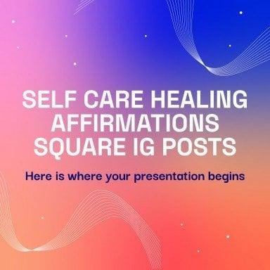 Healing Affirmations IG Posts Präsentationsvorlage