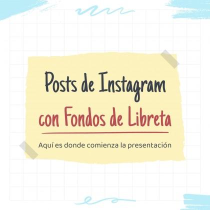 Instagram Posts mit Notebook-Hintergründen Präsentationsvorlage