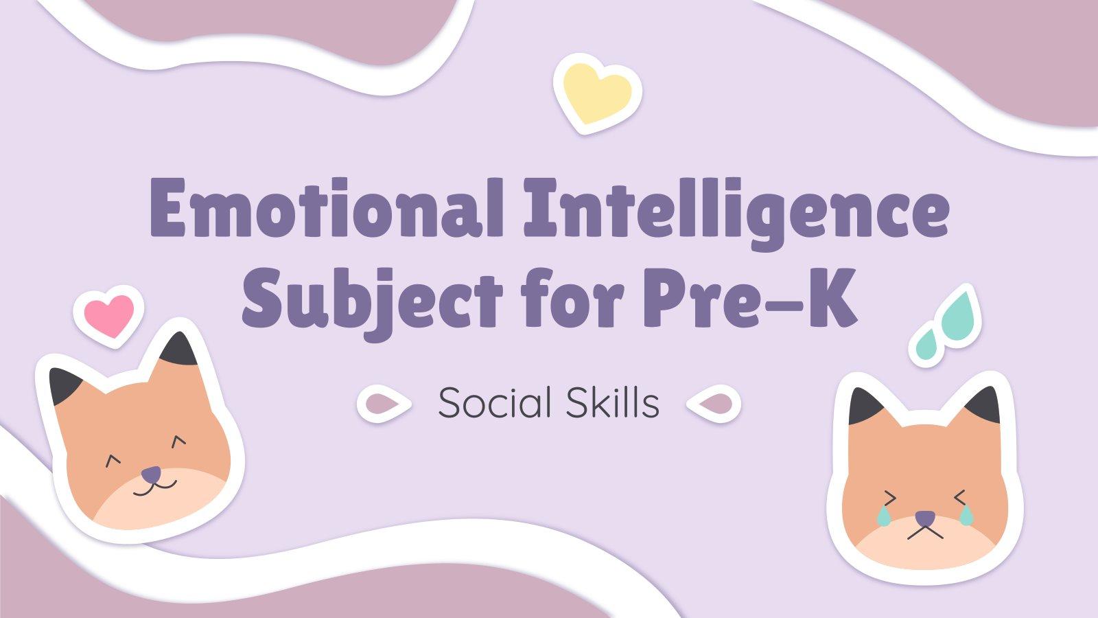 Intelligence émotionnelle pour la maternelle : Compétences sociales : Modèles de présentation