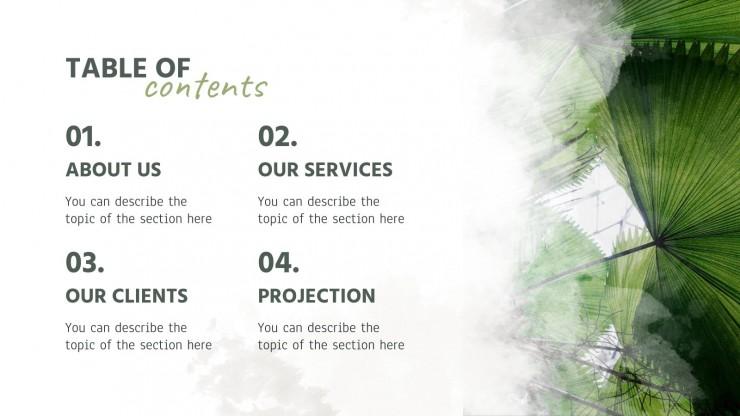 Regenwald Hintergründe Firmenprofil Präsentationsvorlage